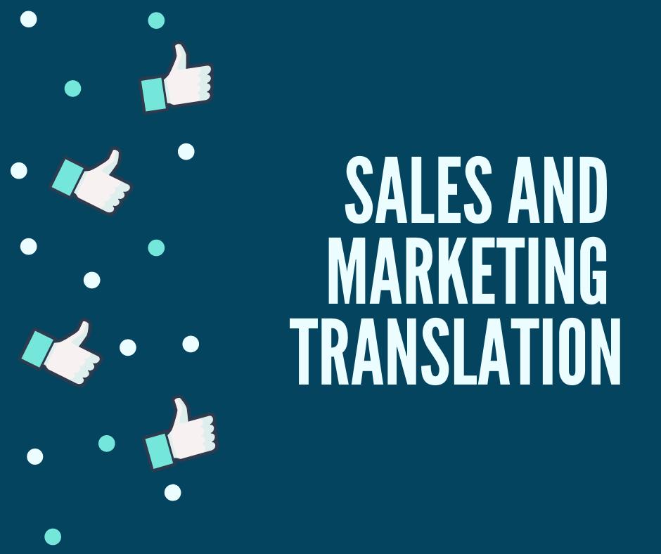Sales And Marketing Translation